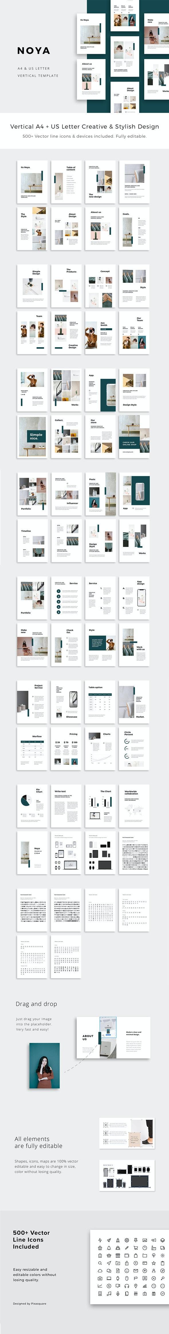 NOYA - Vertical Keynote Presentation Template - Creative Keynote Templates
