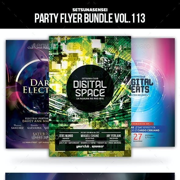 Party Flyer Bundle Vol.113