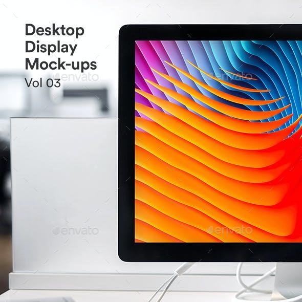 Desktop Screen Psd Mockup Vol 03