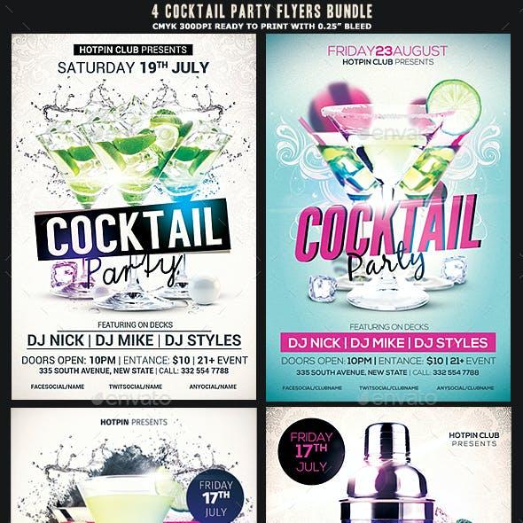 Cocktail Party Flyer Bundle