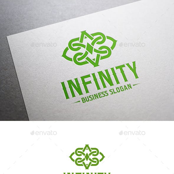 Infinity Abstract Interlacing Line Logo Symbol