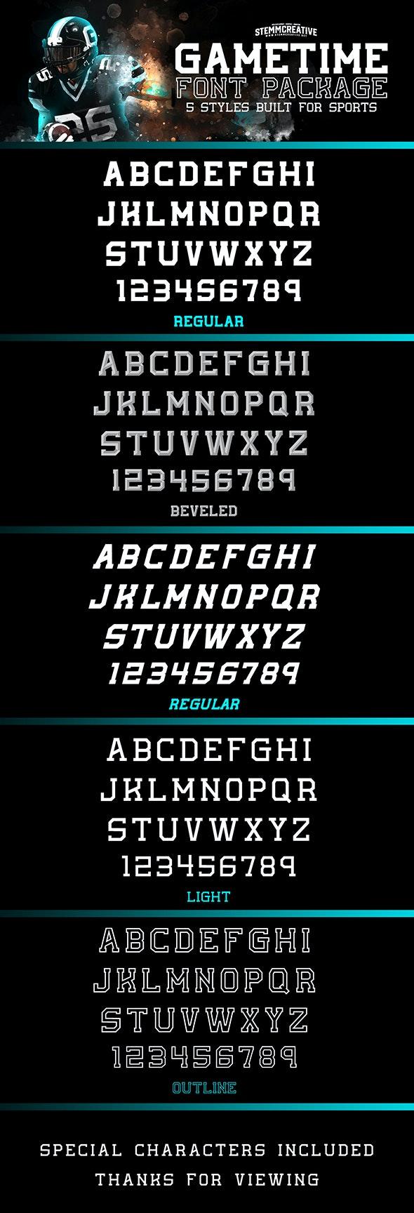 GameTime Typeface - Miscellaneous Script