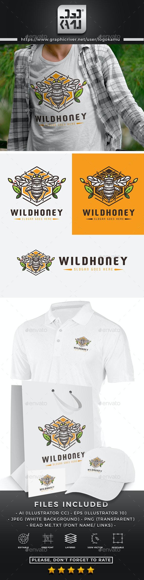 Wild Honey Logo - Animals Logo Templates
