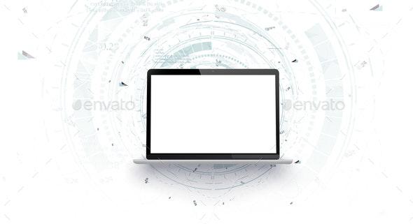 Mock Up Laptop - Miscellaneous Vectors