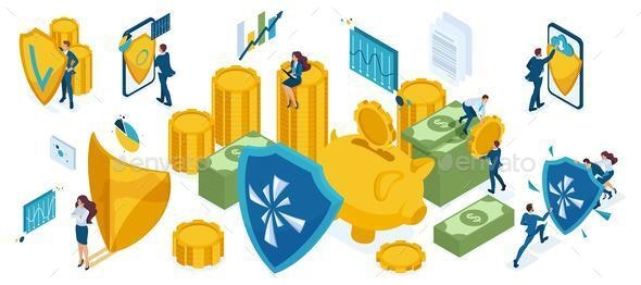 Isometric Set for the Protection of Money and Valuables - Concepts Business