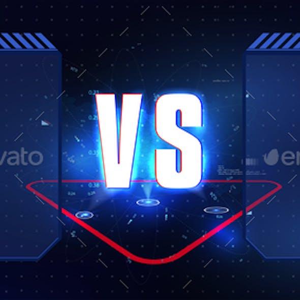 Versus Blue and Red Futuristic Design