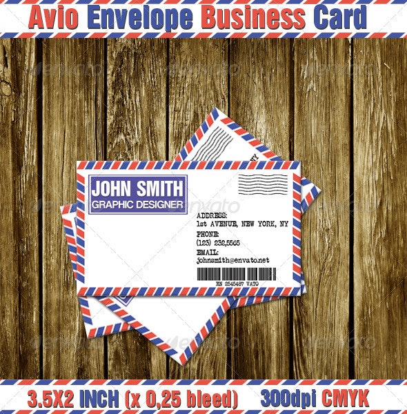 Avio Envelope Business Card - Creative Business Cards