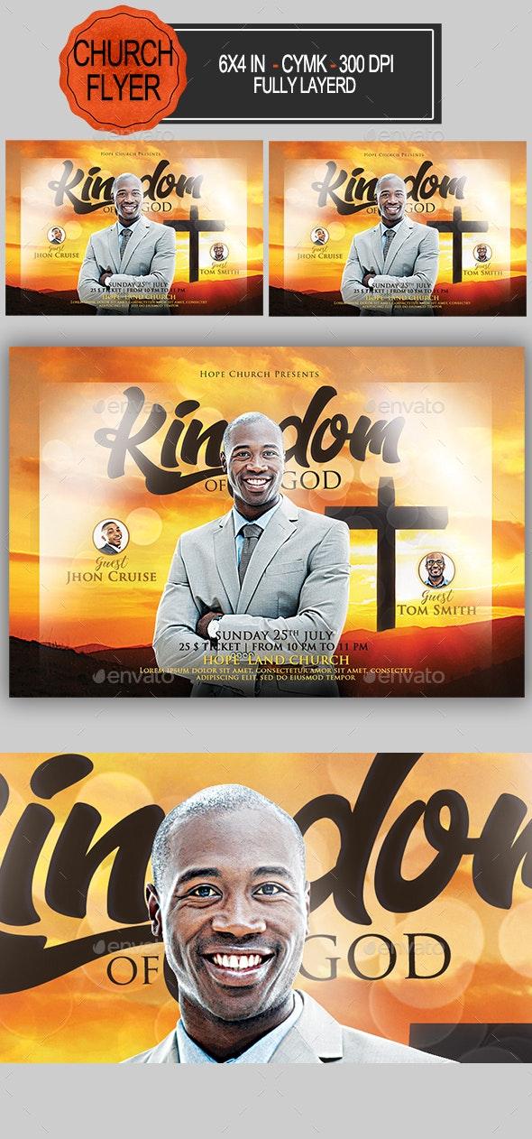 Kingdom of God Church Flyer - Church Flyers