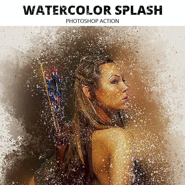 Watercolor Splash Photoshop Action