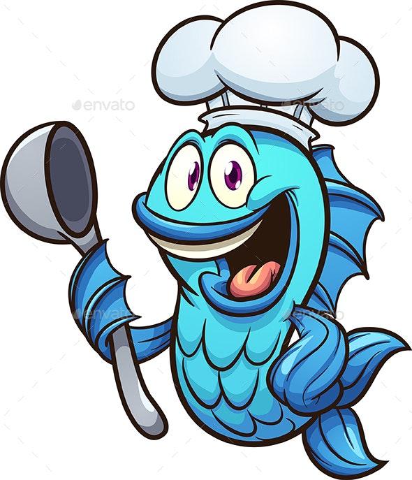 Chef Fish - Animals Characters
