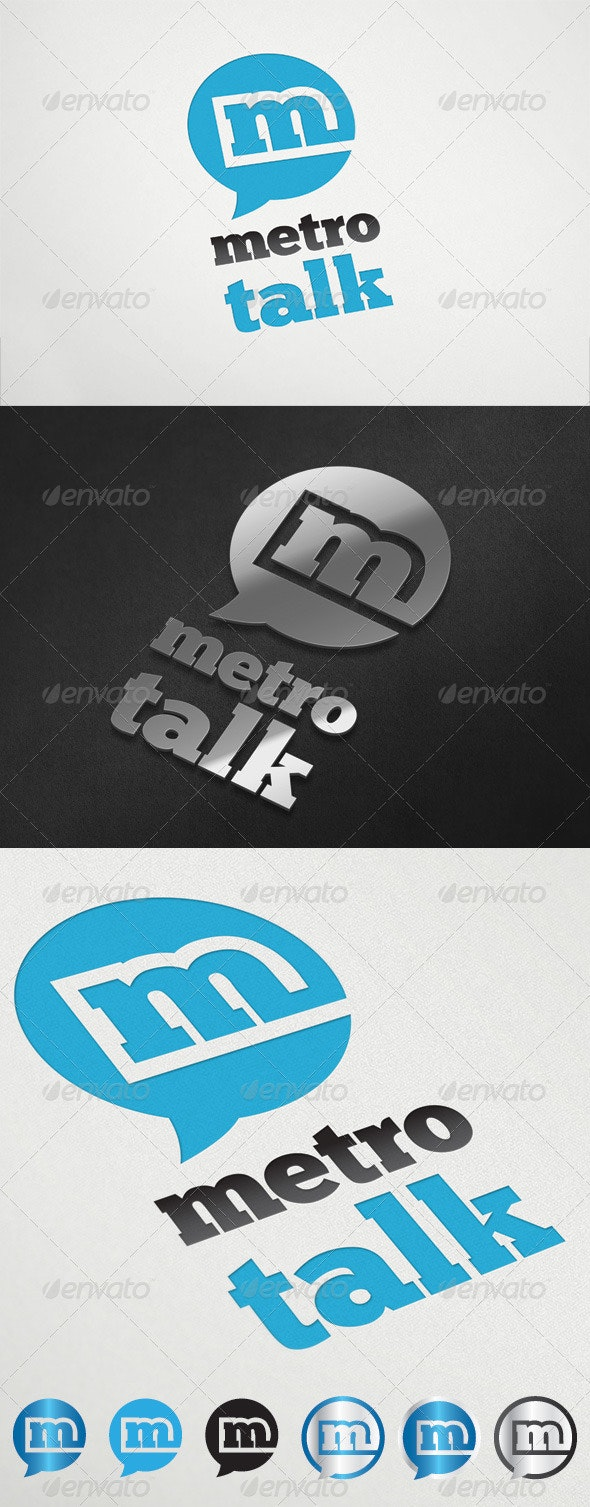 MetroTalk Logo Template - Letters Logo Templates