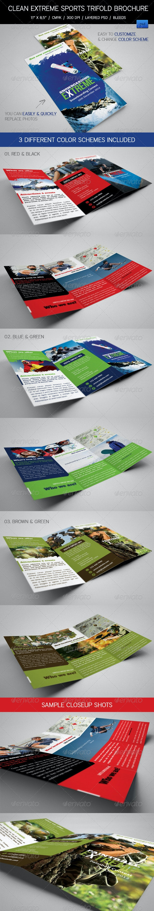 Extreme Sports Event Trifold Brochures - Corporate Brochures