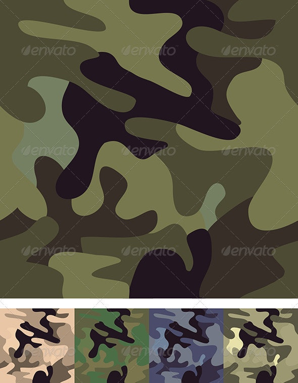 Set of 5 Camouflage Patterns