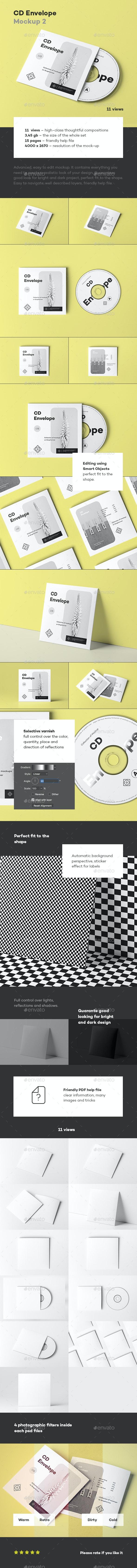 CD Envelope Mock-up 2 - Discs Packaging