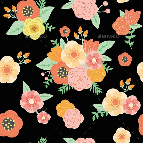 Floral Seamless Pattern - Patterns Backgrounds