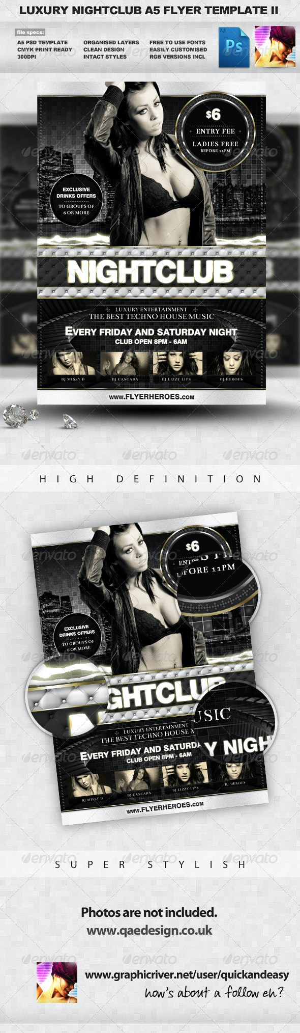 Luxury Nightclub Flyer Template II - Clubs & Parties Events