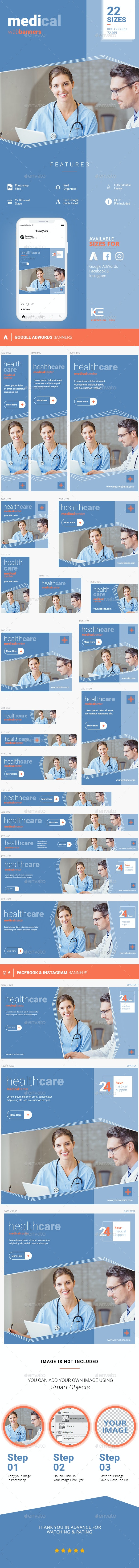 Medical Banners - Banners & Ads Web Elements