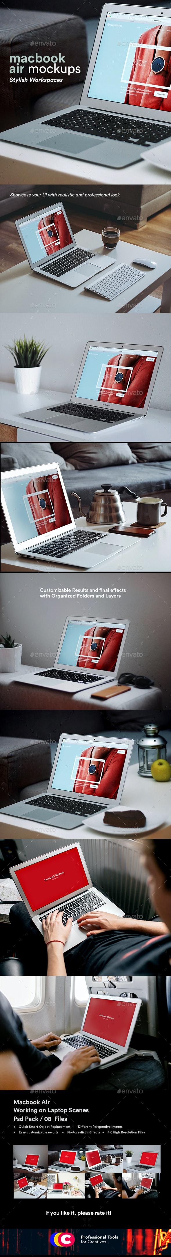 Laptop Mock-Up Psd 8 - Laptop Displays