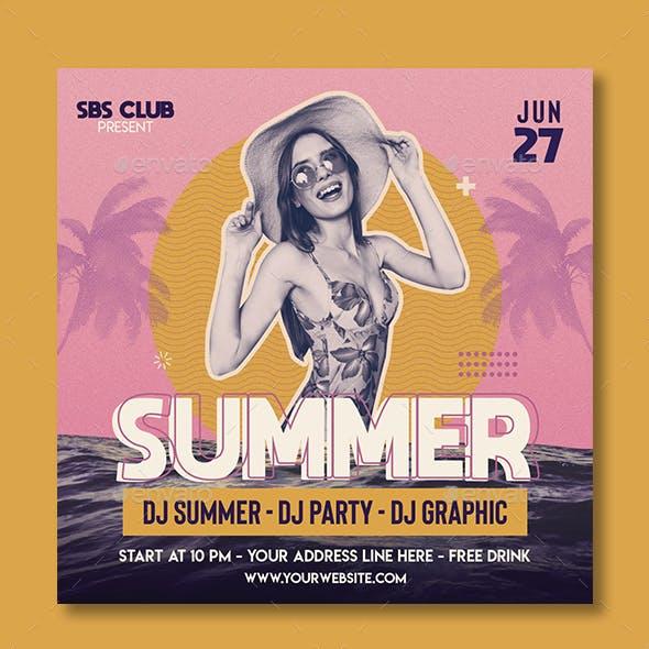 Summer Retro Flyer Template