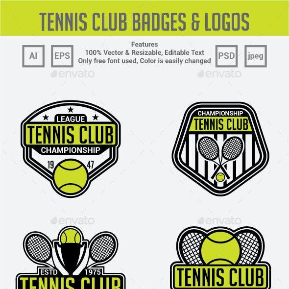 Tennis Club Badges & Logos