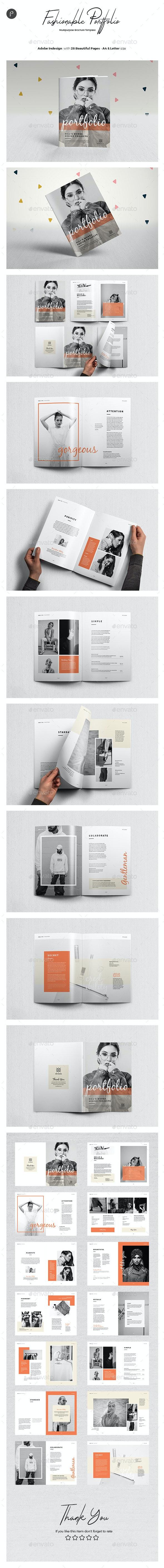 Clean Potrait Multipurpose Brochure Vol.3 - Portfolio Brochures