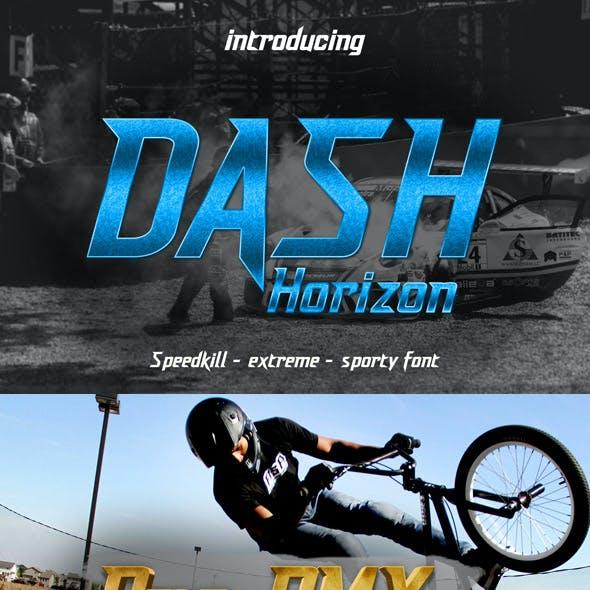 Dash Horizon - Sporty Display Font