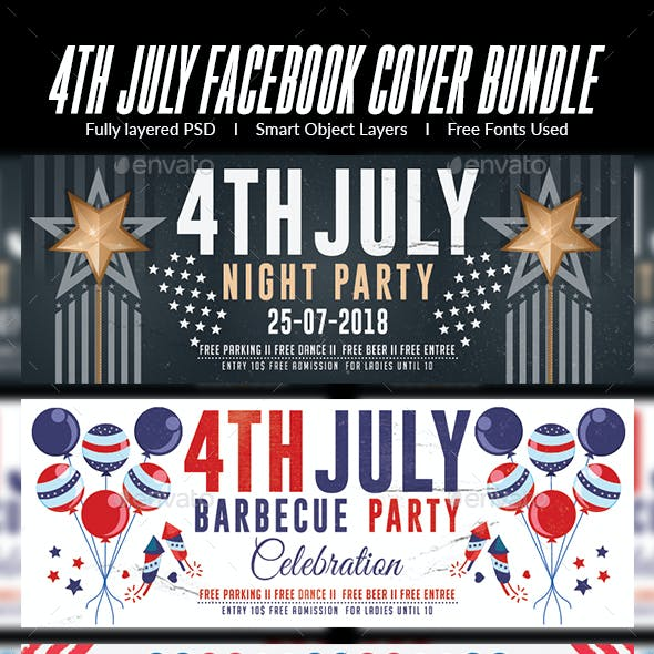 4th of July Facebook Cover-Bundle