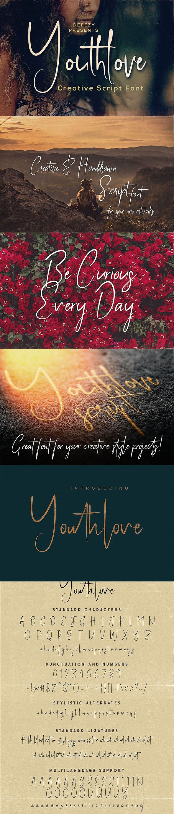 Youthlove Script Font - Calligraphy Script
