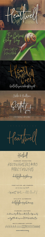 Heartwell Script Font - Hand-writing Script