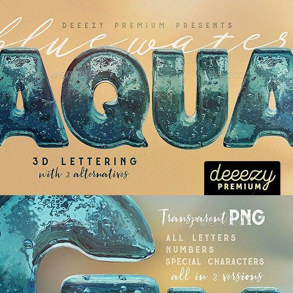 Aqua – 3D Lettering