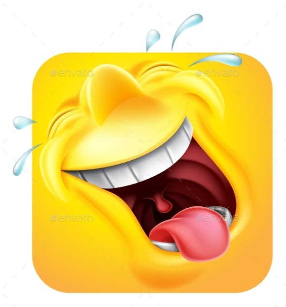 Laughing Emoji Icon 3D Cartoon Character - Miscellaneous Characters