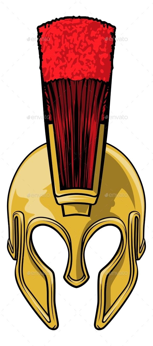 Spartan Gladiator Roman Trojan Warrior Helmet - Man-made Objects Objects