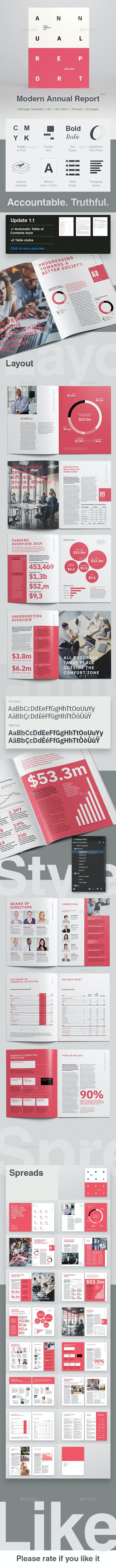 Modern Annual Report 32 Pages - Corporate Brochures
