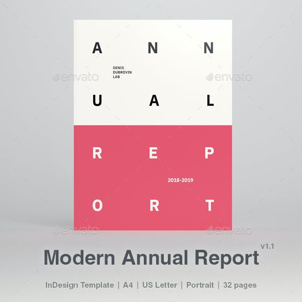 Modern Annual Report 32 Pages