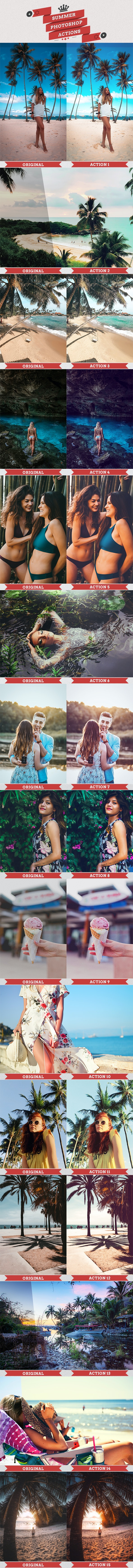 Summer Photoshop Actions - Photo Effects Actions
