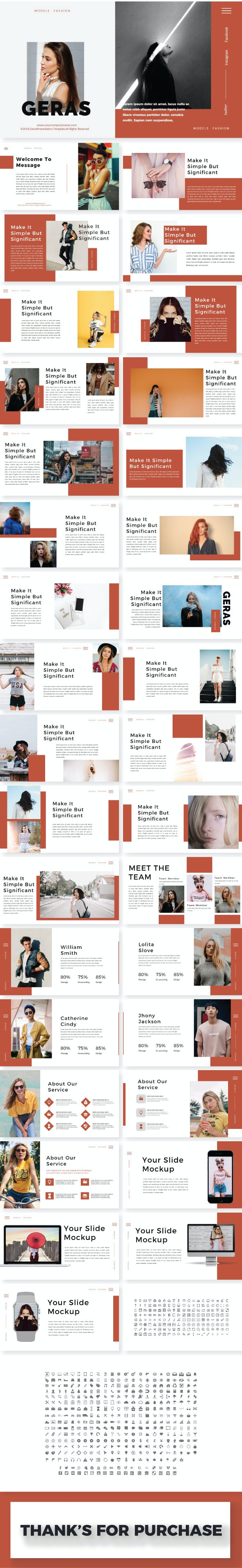 Geras Google Slide Template - Google Slides Presentation Templates