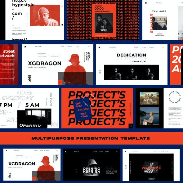 XGdragon Business Powerpoint Template