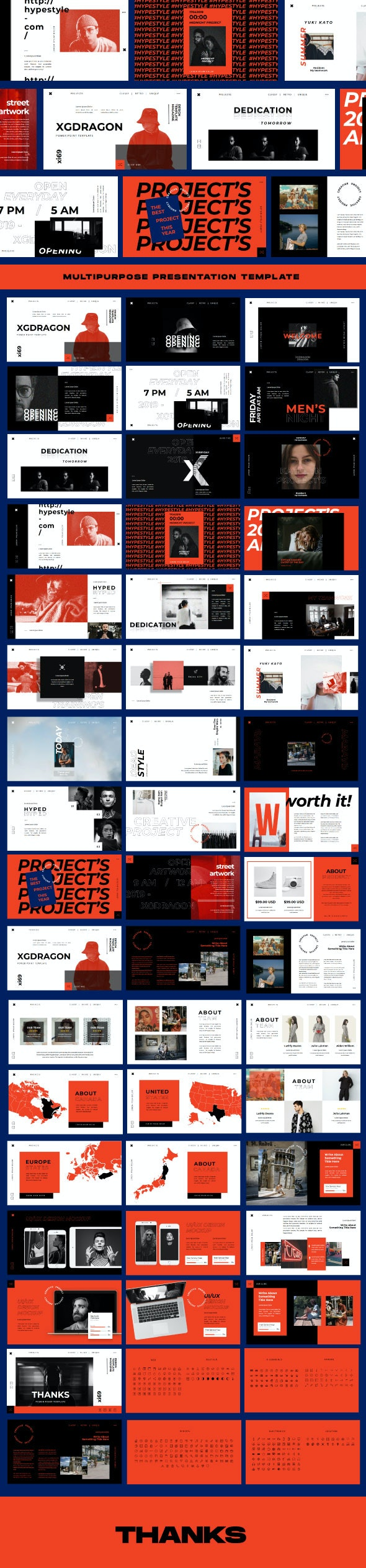 XGdragon Business Powerpoint Template - Business PowerPoint Templates