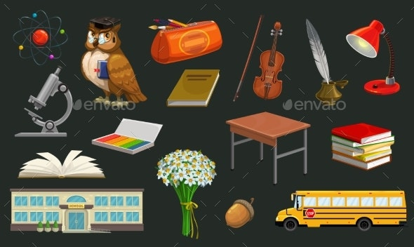 Welcome Back to School Symbols - Miscellaneous Vectors