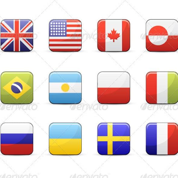 Design Flags Icon Set