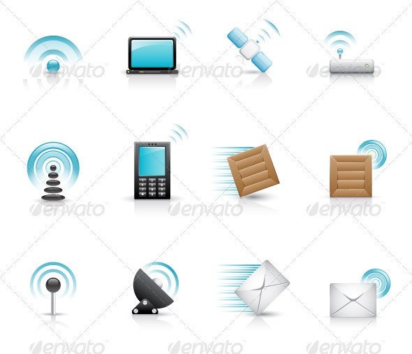 Design messages icons set - Web Technology