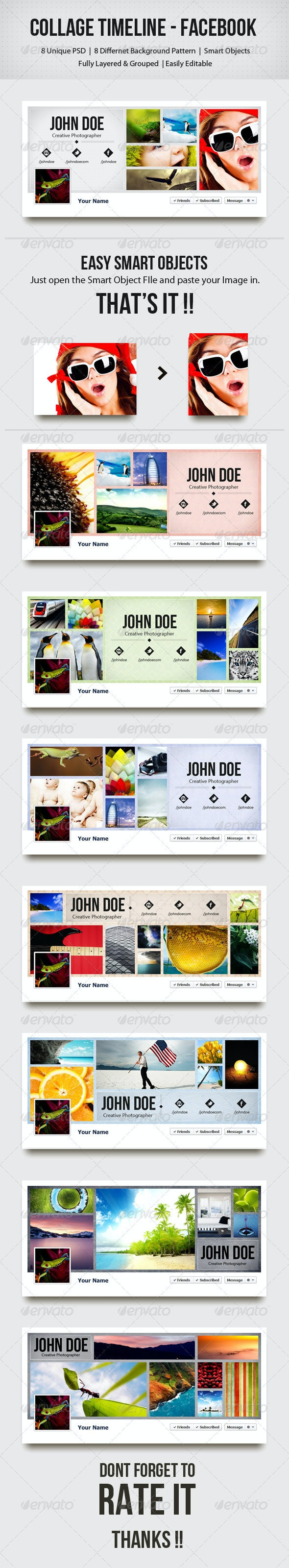 Collage Timeline - Facebook  - Facebook Timeline Covers Social Media