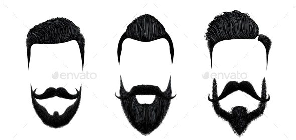 Men Hair and Moustache Styling - People Characters