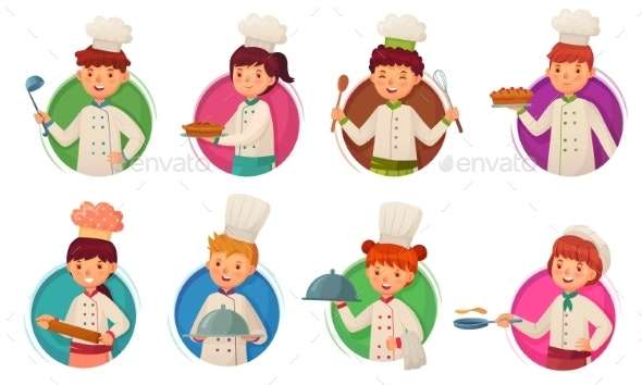 Little Kid Chefs - People Characters
