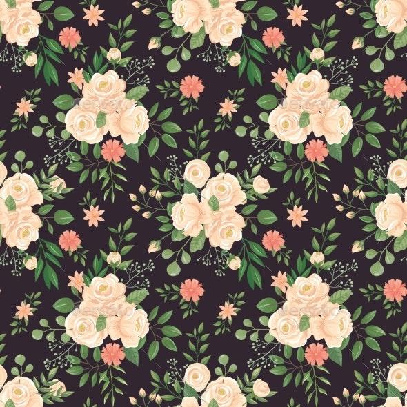 Rose Flowers Pattern - Flowers & Plants Nature