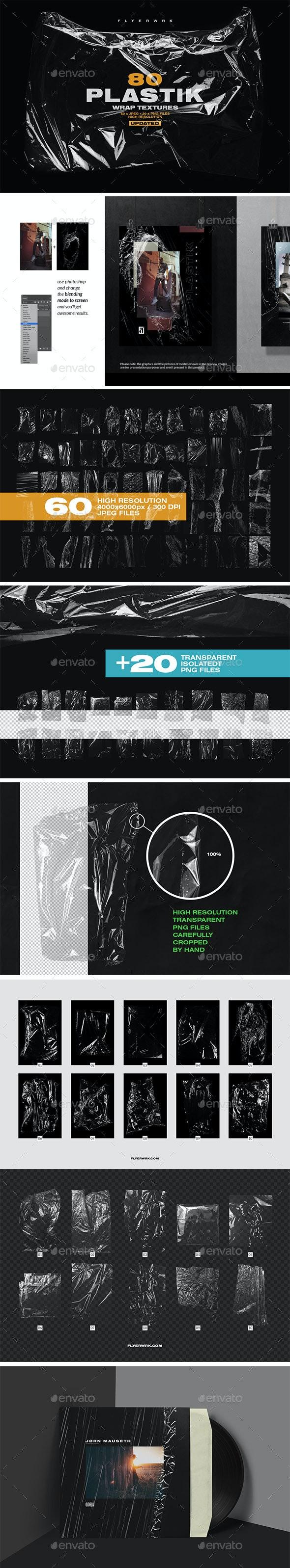 80 Plastic Wrap Textures - Miscellaneous Textures