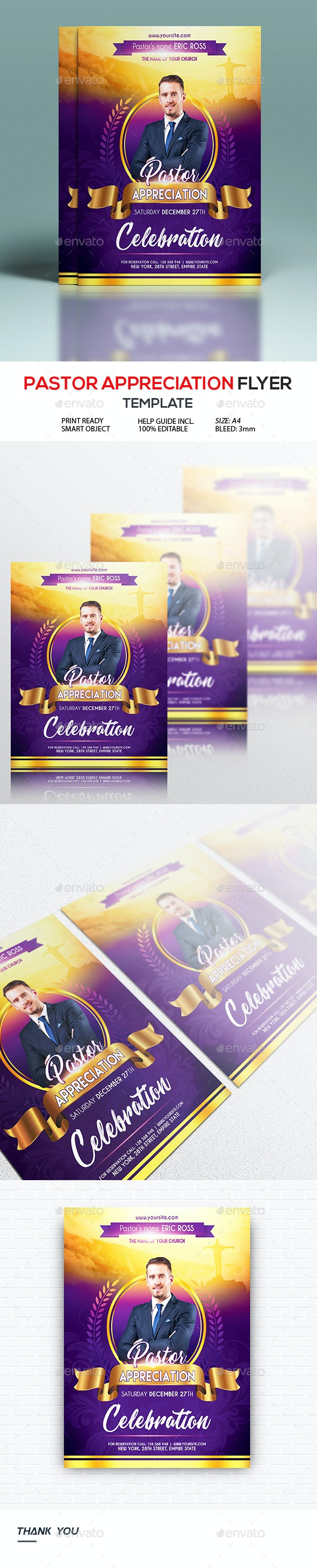 Pastors Appreciation Church Flyer Template - Church Flyers