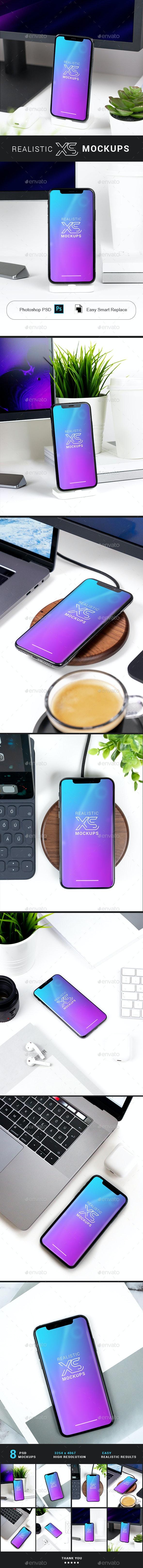 Realistic Phone XS Mockups - Mobile Displays