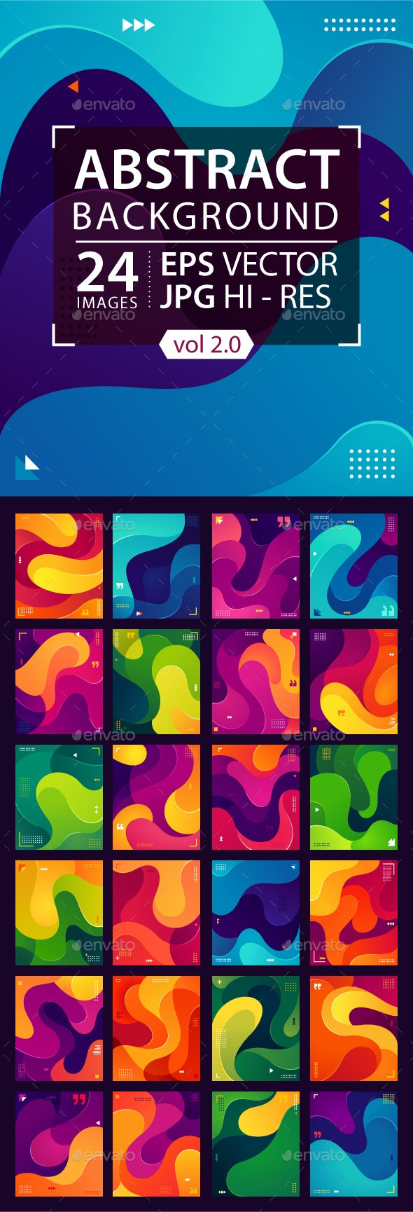 Colorful Fluid Background, Vector Graphic Element (Vol. 2) - Abstract Backgrounds