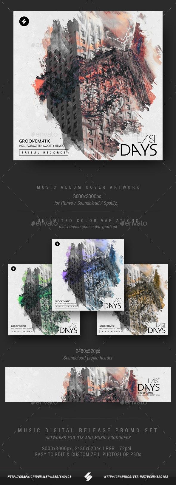 Last Days - Music Album Cover Artwork Template - Miscellaneous Social Media